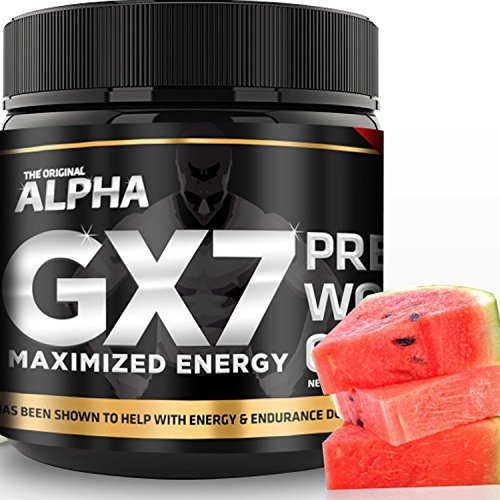 Alpha Gx7 Pre-workout - Maximized Energy - For Workouts 245g - Watermelon Flavor (Gym Angel Energy Angel compare prices)