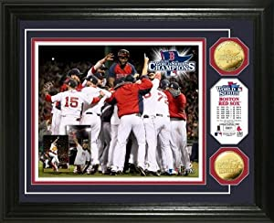 Boston Red Sox 2013 World Series Champions Gold Coin Photo Mint by Highland Mint
