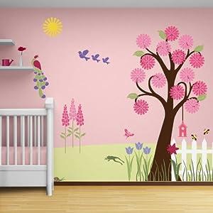 My wonderful walls flower garden theme wall for Amazon wall mural