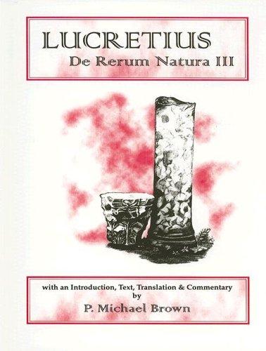 Lucretius: De Rerum Natura III (Classical Texts Series) (Bk. 3) (Latin Edition)