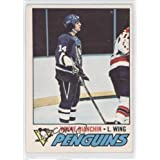 Wayne Bianchin RC (Rookie Card) COMC REVIEWED Good to VG-EX Pittsburgh Penguins (Hockey Card) 1977-78 O-Pee-Chee...
