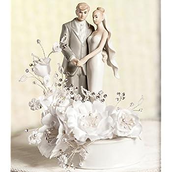 Vintage Bride and Groom Wedding Cake Topper