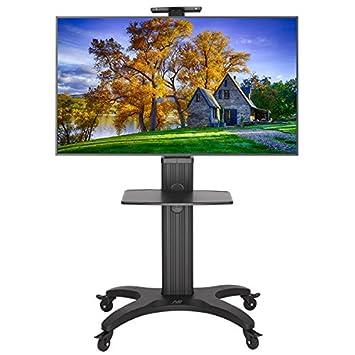 """North Bayou AVF1500-50-1P Supporto da pavimento, per TV da 32""""-60"""", colore: argento"""