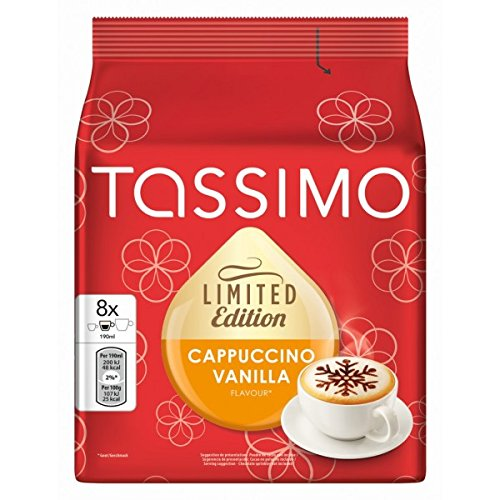 Choose TASSIMO T Discs/ Pods - CAPPUCCINO VANILLA (Limited Edition) 8 portions / Single servings x 2 Packs = 16 T Discs by Tassimo