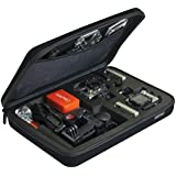 Large case for gopro hero 4 3plus 3 camera high quallity eva shockproof go pro hd hero3plus cameras bag black with enough space for float helmet wrist pole remote lens battery lcd screen sd card accessories