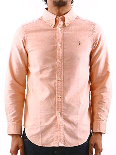(ポロラルフローレン) POLO RALPH LAUREN オックス ボタンダウン 長袖 シャツ メンズ オックスシャツ シンプル 胸ロゴ 通販 オレンジ / L