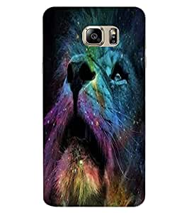 ColourCraft Lion Design Back Case Cover for SAMSUNG GALAXY NOTE 6