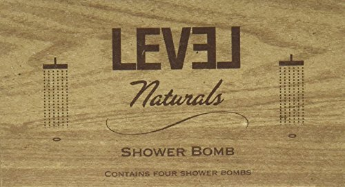 Aromatherapy Fizzing Shower Bombs by Level Naturals - Menthol & Eucalyptus Shower Steamers(4 count per unit) (Shower Menthol compare prices)