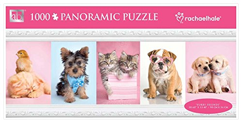 Andrews + Blaine Furry Friends Panoramic Puzzle, 1000-Piece