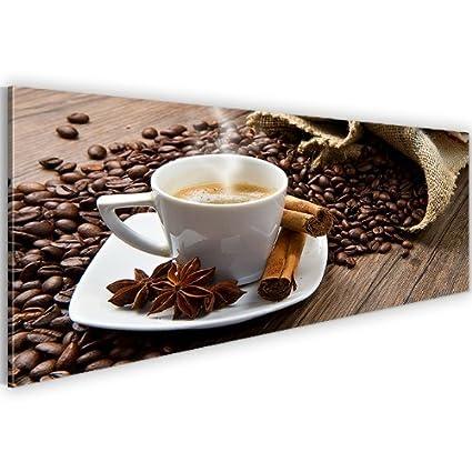 Bild & Kunstdruck Prestigeart 5018141a Bilder auf Leinwand XXL Kunstdrucke, Cafe, 120 x 40 cm Wandbild