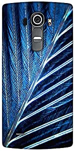 Snoogg Feather Designer Protective Back Case Cover For LG G4