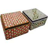 Handmade Jewelry Box Indian Vintage Style Lac Beaded Material Decorative Box Home Decor Table Top Antique Pill...