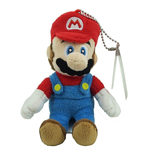 "Little Buddy Toys Mario 5"" Plush Key Chain - 1"
