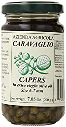 Antonino Caravaglio Marinated Capers with Herbs In Extra Virgin Olive Oil, 7.1 Ounce