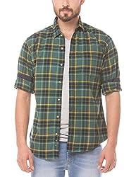 Prym Men's Casual Shirt (8907423014435_2011508202_X-Large_Green)