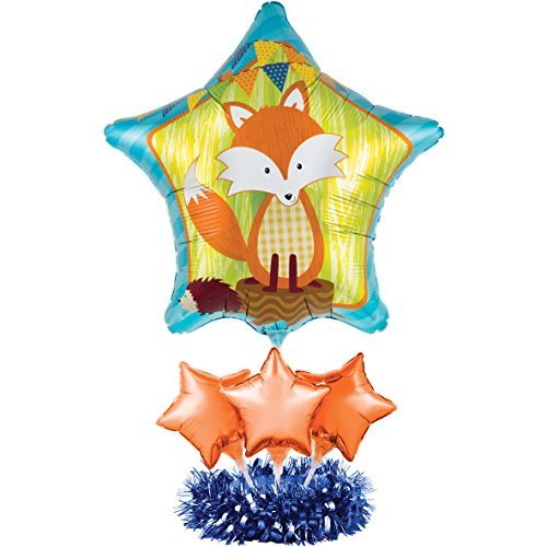 Creative converting balloon centerpiece kit forest fox