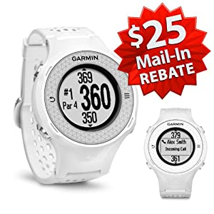 Garmin Approach S4 Golf GPS Watch (NEW VERSION w/ $25 Rebate) | 60-Day Buy & Try Return Policy! (White)