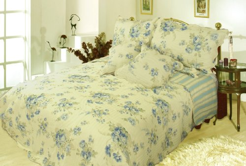 Dada Bedding Dxj101491 Camellia 5-Piece Quilt Set, California King, Floral front-10629