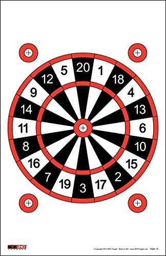 EZ2C Targets Style 15 Dart Board (25 Pack) (Target Dart Board compare prices)