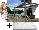 solidPREMIUM 500x250 cm BxT ALU Terrassenüberdachung ANTHRAZIT