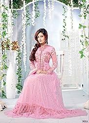 Saryu Riya Sen Pink Designer Anarkali Suits