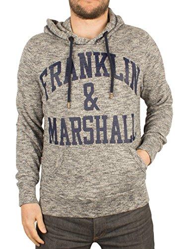 Franklin & Marshall Uomo Arch Logo Melange con cappuccio, Verde, Large