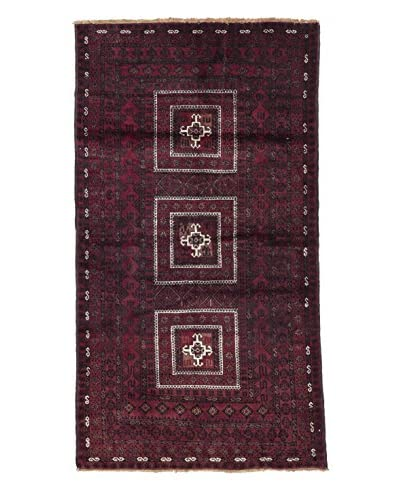 Darya Rugs Persian One-of-a-Kind Rug, Red, 4' x 7' 2