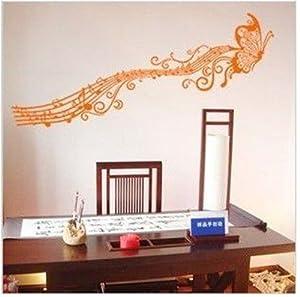 ... Schlafzimmer Kinderzimmer Dekor PVC (Orange): Amazon.de: Küche