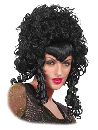 Amazon Com Curly Long Black Wig Big Hair Mess Poofy