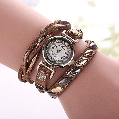 darpy (TM) New Fashion Luxury braccialetto al quarzo orologio casual donna donne polso Relogio feminino Reloj mujer Orologio, Light Brown