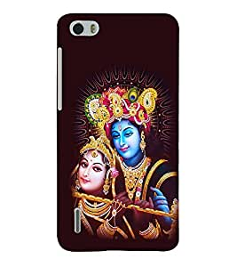 printtech Lord Radha Krishna God Back Case Cover for Huawei Honor 6