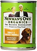 Newman's Own Organics Turkey & Chicken Formula for Puppies & Active Dogs, 12.7-Ounce Cans (Pack of 12)