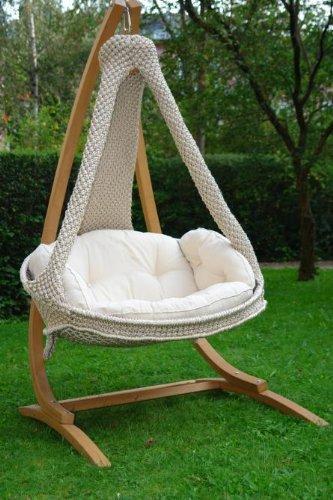 Nido L ecru Lola Macramee Wetterfest mit Kissen natura günstig online kaufen
