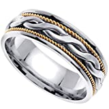 Handmade Braided 14k Two-Tone Gold Band (7MM)