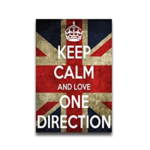 Keep Calm and One Direction Custom Poster 16*24 by beadsdreamstore