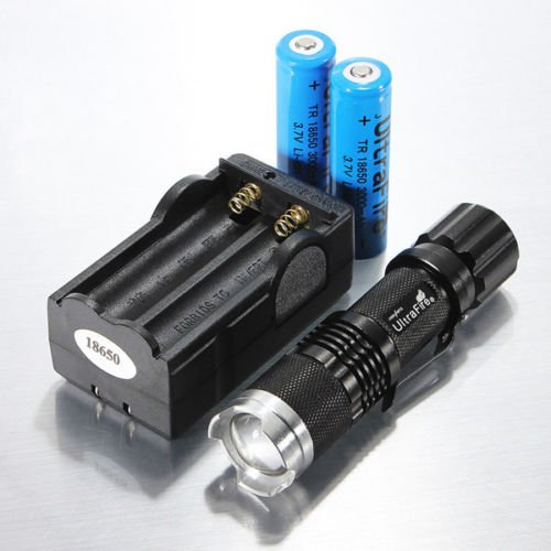 2000Lm Ultrafire Cree Xml T6 Led Flashlight Torch Zoomable 18650 Battery Charger