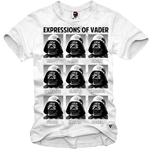 E1SYNDICATE T-SHIRT EXPRESSIONS OF VADER STAR WARS YODA DEATH STAR