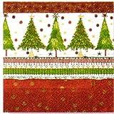 Paper+Design ペーパーナフキン クリスマス クリスマスツリー 赤