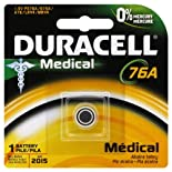 Duracell Battery, Medical, 1.5 V, 76A 1 battery