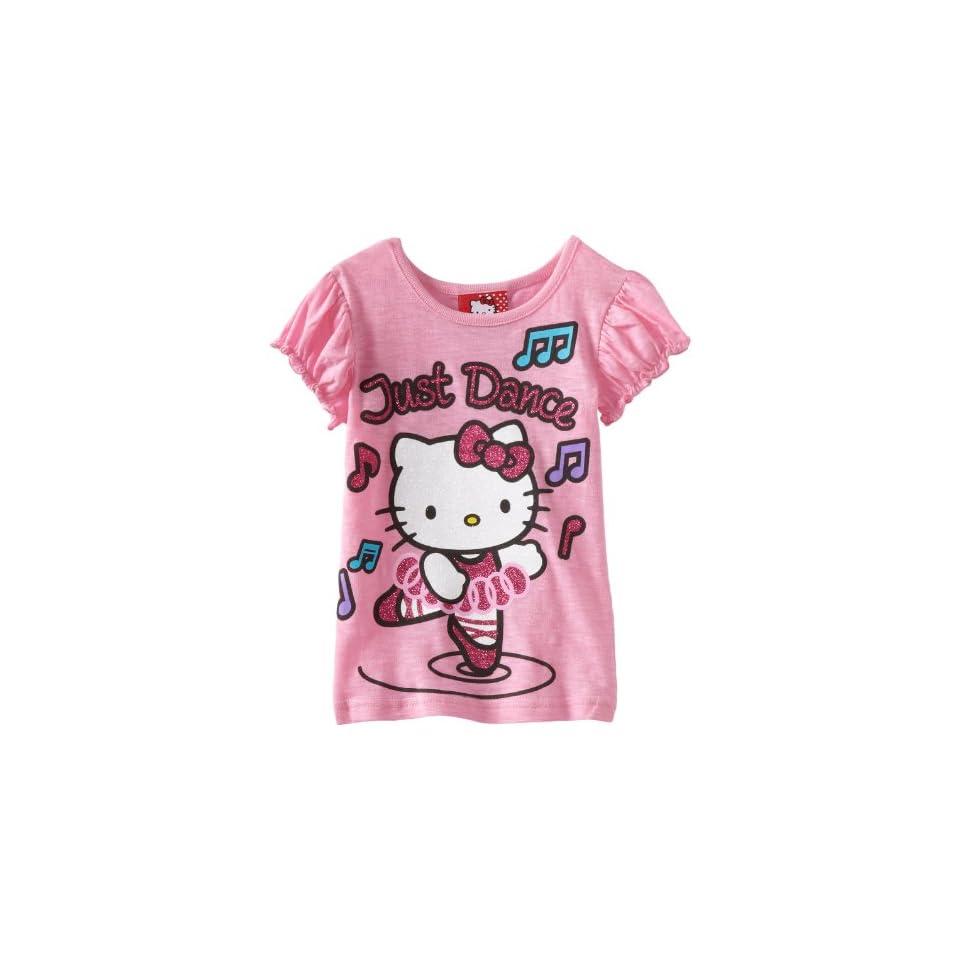 Hello Kitty Little Girls HK Just Dance T Shirt, Pink, 2T
