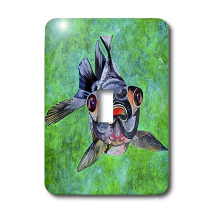 Lsp_48473_1 Taiche - Acrylic Painting - Blackmoor Goldfish - Blackmoor Goldfish- Blackmoor Goldfish, Telescope Goldfish, Goldfish, Dragon Eye Goldfish - Light Switch Covers - Single Toggle Switch
