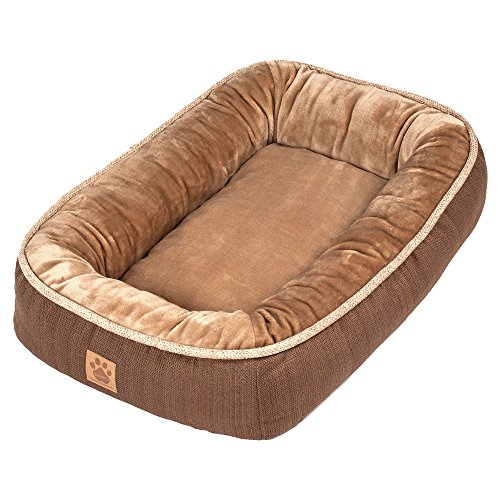 Precision Pet SnooZZy Rustic Elegance Low Bumper Bed Brown (Precision Pet Bumper Pillow Bed compare prices)