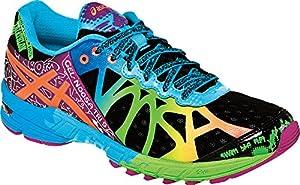 ASICS Women's Gel-Noosa Tri 9 Running Shoe,Black/Neon Coral/Green,8 M US
