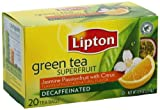 Lipton Decaffeinated Green Tea, Superfruit Jasmine Passionfruit with Citrus, 20 Count (Pack of 6)