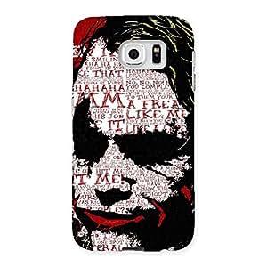Stylish Premier Psyco Typo Multicolor Back Case Cover for Samsung Galaxy S6