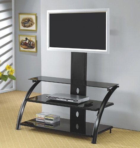 Cheap Black LCD / Plasma Flat Panel TV Stand with Bracket (VF_700617)