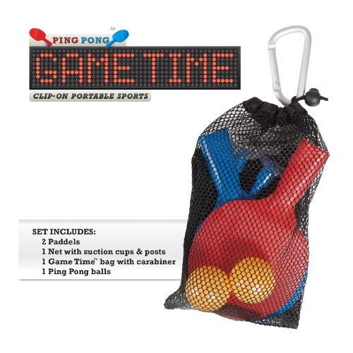 Ping Pong Game Time Clip-On Portable Sports