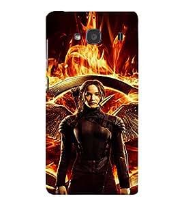EPICCASE Katniss the warrior Mobile Back Case Cover For Mi Redmi 2 (Designer Case)