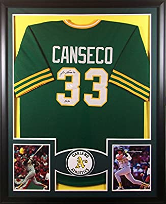 Jose Canseco Framed Jersey Signed JSA COA Autographed Oakland Athletics