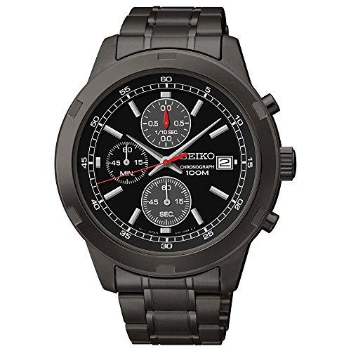 Seiko Black Men's Chronograph Watch